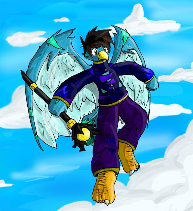Bird Anthro by RRRandomness