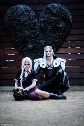 Sephiroth/ Dark Aeris Cosplay by LiveTheFantasyCos