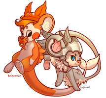 Couple Of Mice by vultone