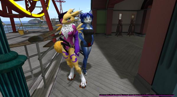 rena and krystal at park by bobcatt