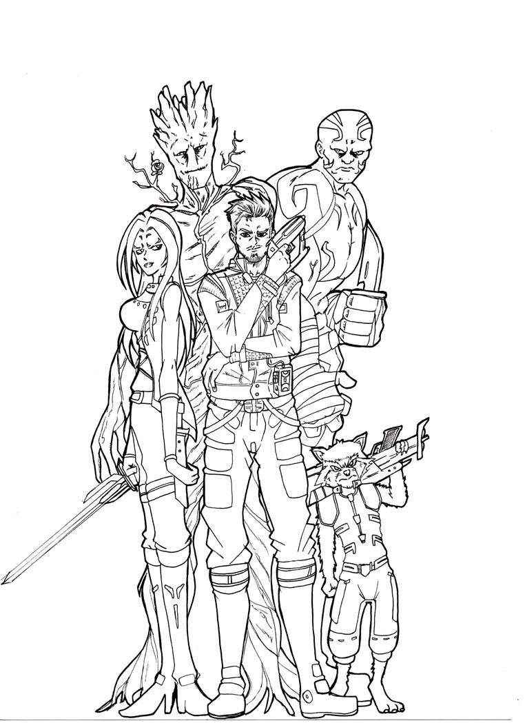 guardians of the galaxy 2 coloring pages - guardians of the galaxy sketch by criskill on deviantart