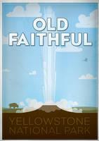 Vintage old faithful poster by moremonger