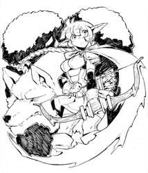 Elf Ranger by DragoonTequila