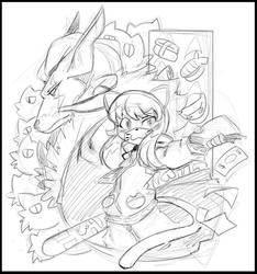 Nyakuza Metro Sketch by DragoonTequila