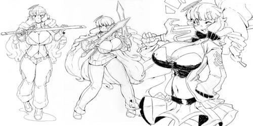 Moji random sketchs by DragoonTequila