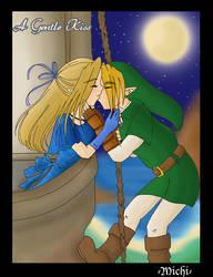 A Gentle Kiss: Link x Zelda by Mischavie
