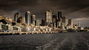 seattle downtown skyline by InV4d3r