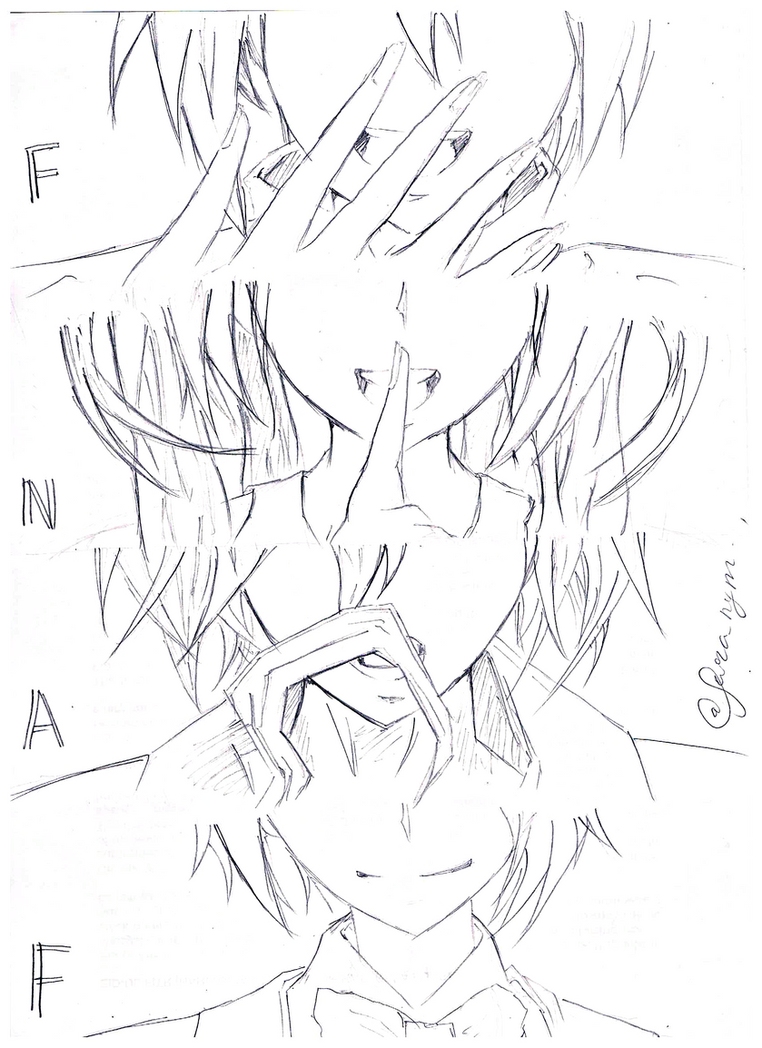 Fnaf anime vers by frnimie on deviantart for Fnaf anime coloring pages