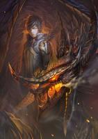 archer and dragon by harliskudo