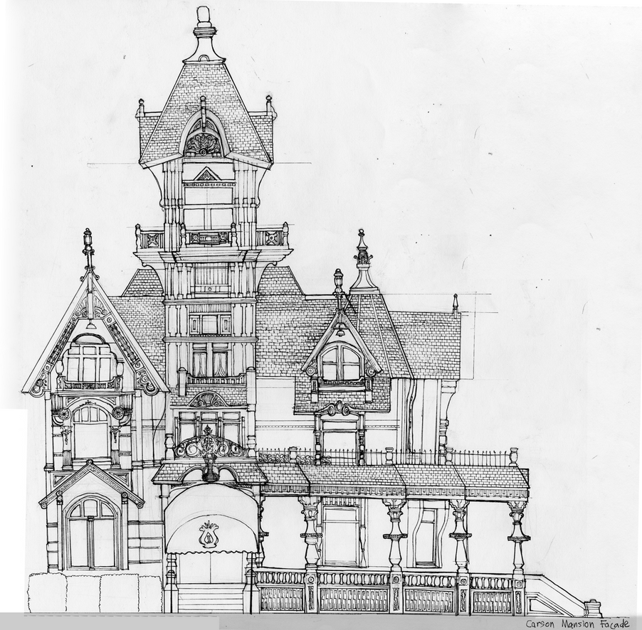 Carson Mansion Facade by Jooson89 on DeviantArt