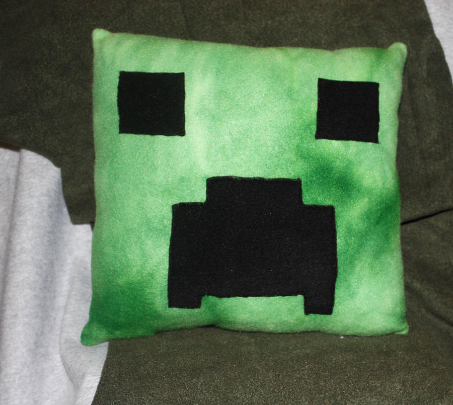 Creeper Pillow by Cyber-Scribe-Screens