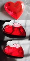 Super Sailor Mars Heart Brooch Commission