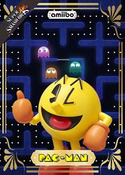 Custom Amiibo Trading Card Pac-Man by y2j1245