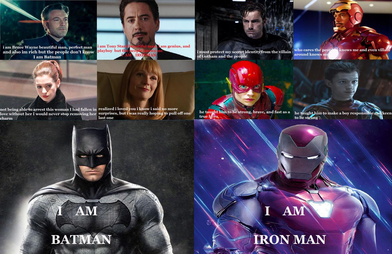 I AM BATMAN AND I AM IRON MAN by djpaint96 on DeviantArt