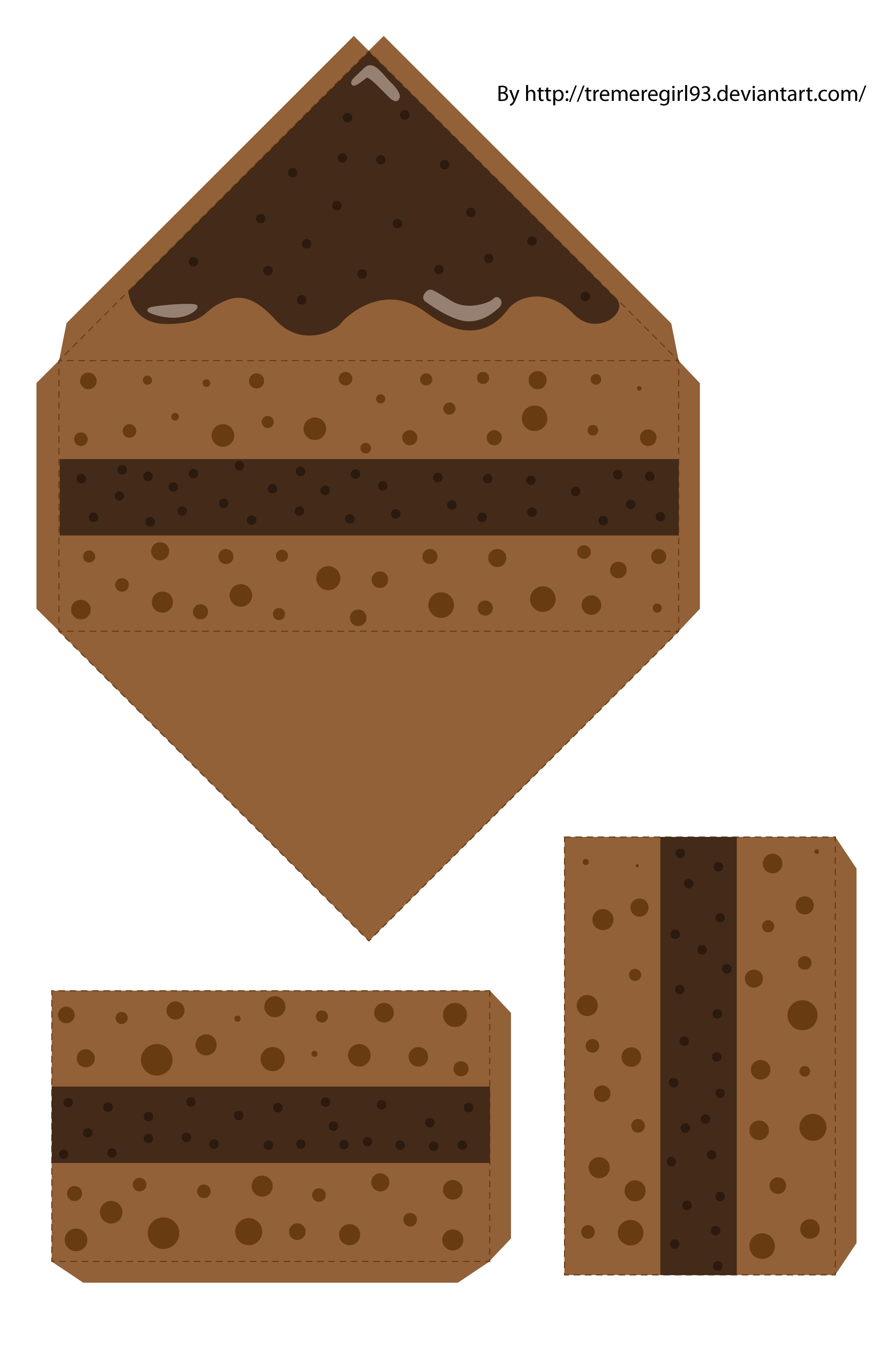 Chocolate Cake Papercraft by TremereGirl93 on DeviantArt