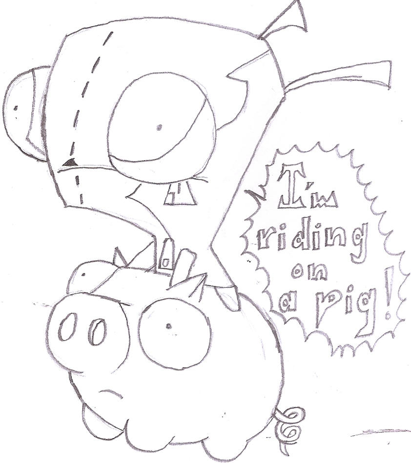 gir and piggy coloring pages - photo#7