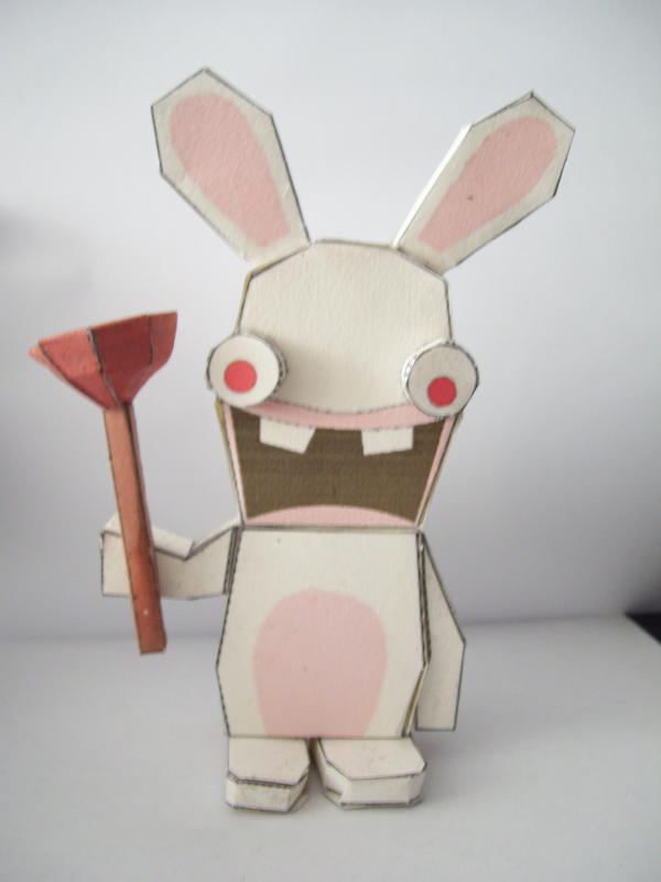 Papercraft: Crazy Rabbid by Bahamut-Eternal