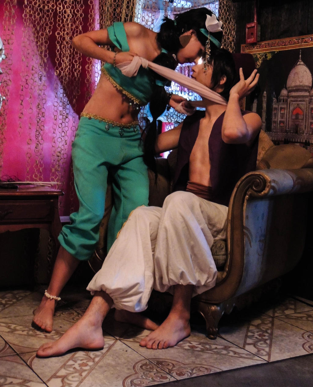 Aladdin and jasmine cosplay