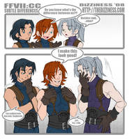 FFVII CC: subtle differences by dizziness