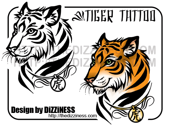 Tattoo - Tiger by dizziness