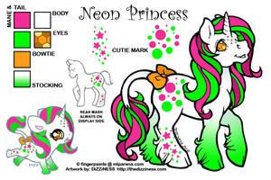 Ponysona: Neon Princess by dizziness