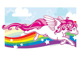 Print: Pink Pegasus by dizziness