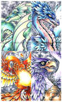 Mythos - dragons, gryphon and phoenix.. oh my!