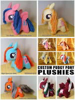 pudgey pony plushies 2013
