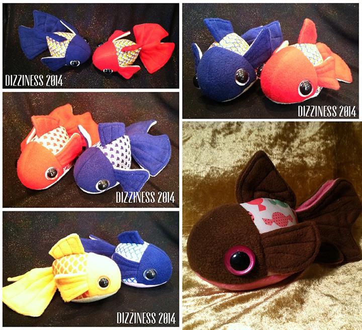 Goldfish plushies part 01
