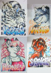 Conbadges from 2013