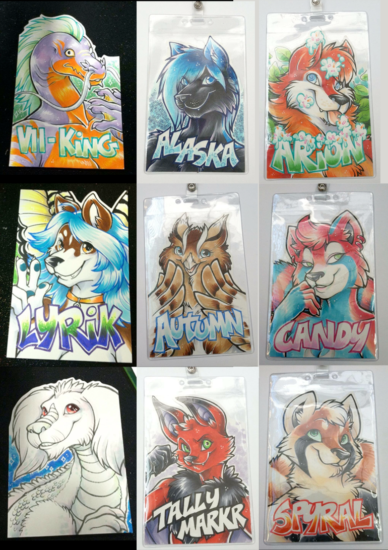Conbadges from 2014 - part01 by dizziness