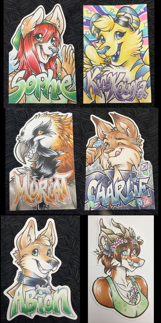 Conbadges from 2015 - part02