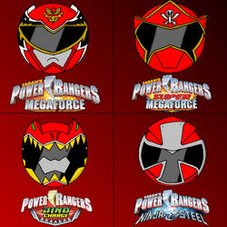 Power rangers helmets in my style part 5 (red)