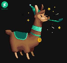 Pixelated Party Llama