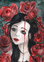 Blood Red Roses by Vampiressartist