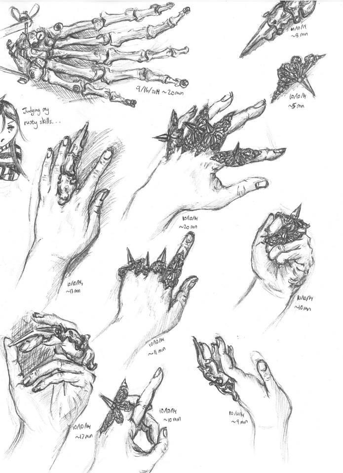 Study of Hands--October 2014 by Vampiressartist