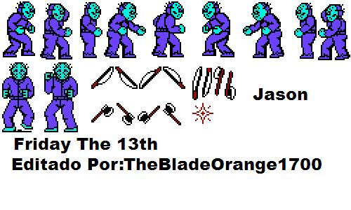 Sprite De Jason Vorhees Friday The 13th by TheBladeOrange1700