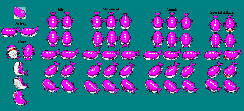 Shiny Wailord Wailord shiny sprite pmd by Wailmer Sprite