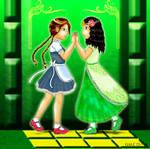 Dorothy Gale and The Princess Ozma .:Fan-Art:.