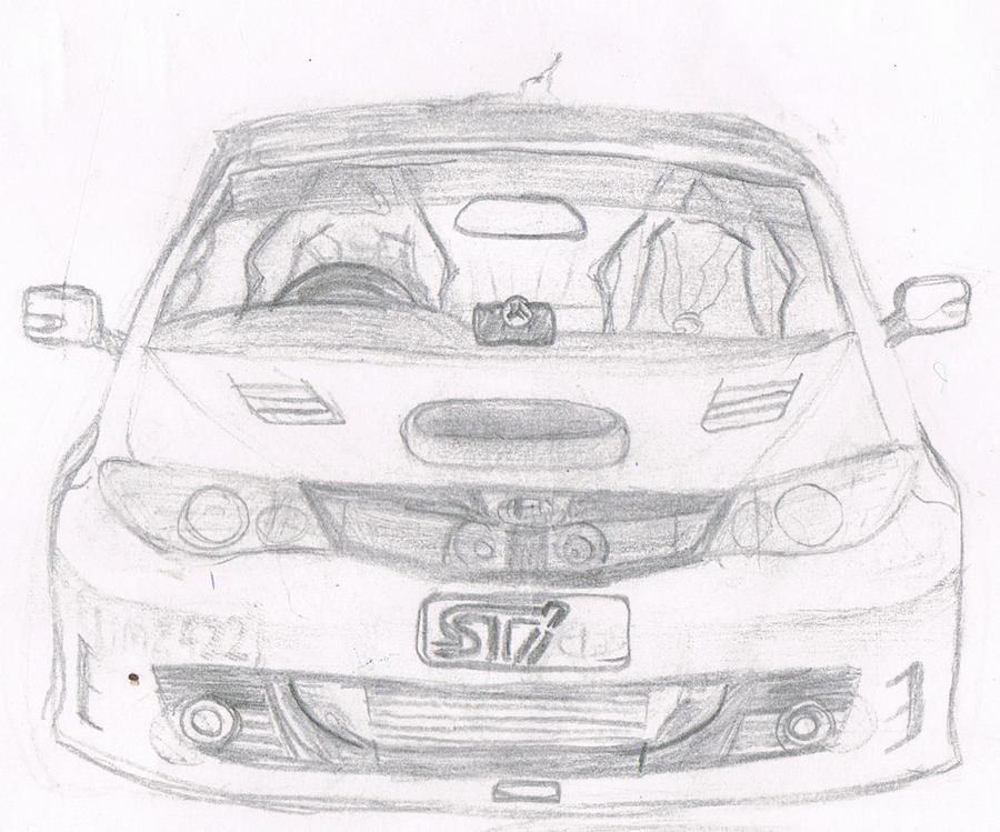 Subaru Wrx Front View By Rileyswall On Deviantart