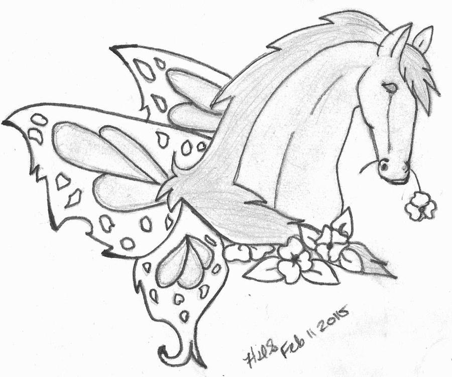 Horse With Butterfly Wings Tat By Crochetamommy On DeviantArt