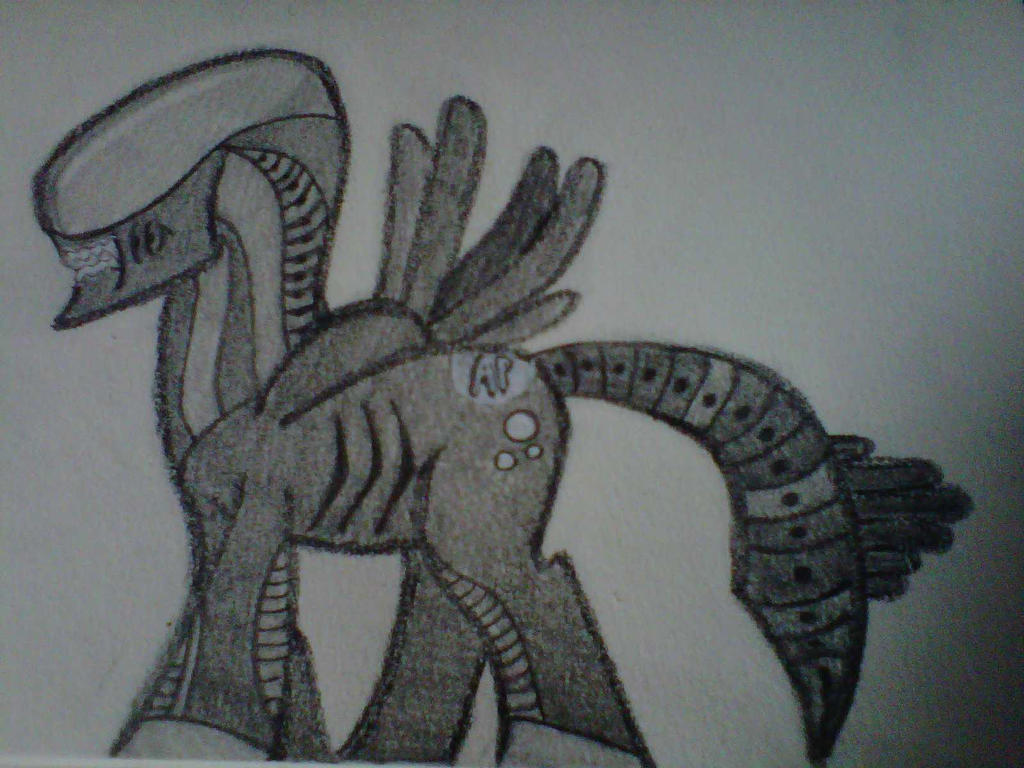 Crochet Xenomorph : Alien Pony, Xenomorph Pony by crochetamommy on DeviantArt