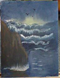Sunset Seascape by crochetamommy