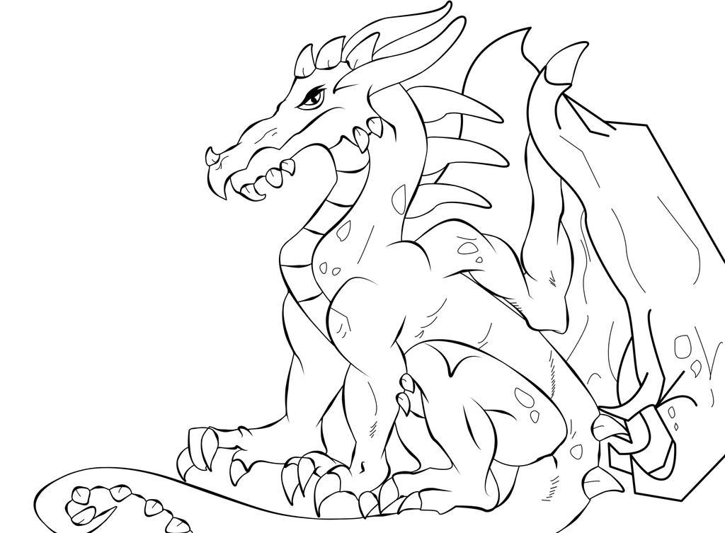 dragon outline by crochetamommy - Dragon Outline