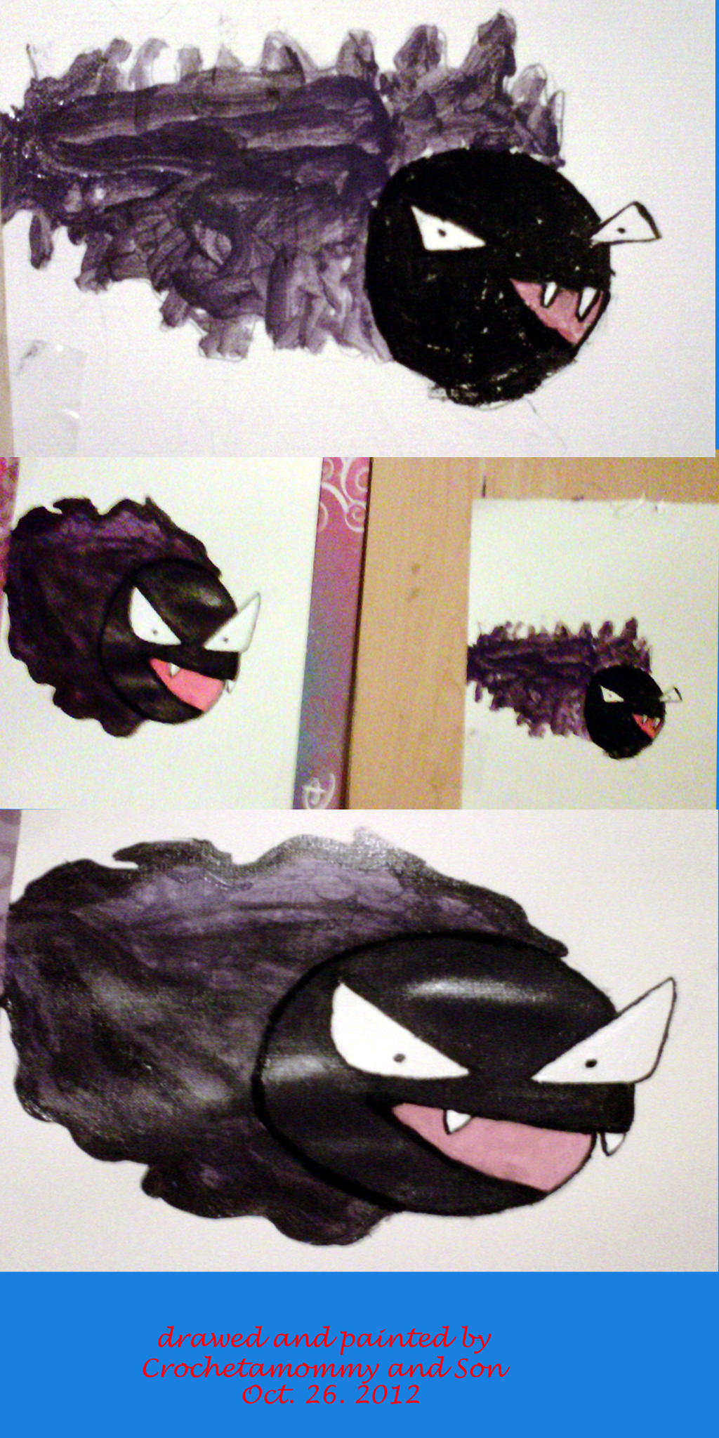 Gastly by crochetamommy