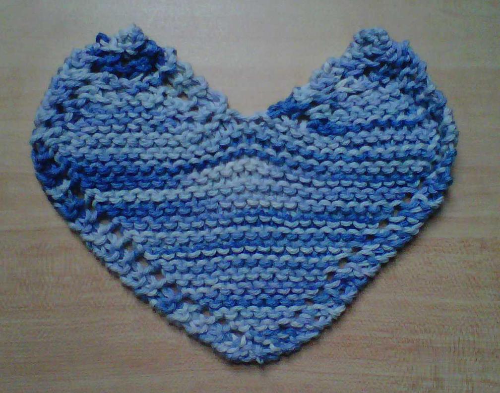 Heart shaped dishcloth by crochetamommy on DeviantArt