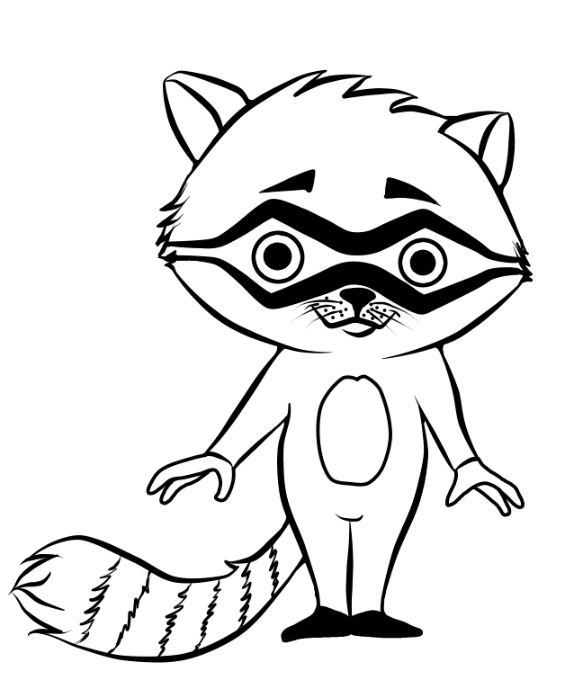 Line Drawing Raccoon : Cartoon raccoon lineart by crochetamommy on deviantart