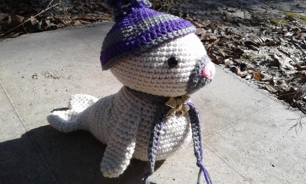 Samantha the seal by crochetamommy