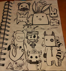 collage of doodles by crochetamommy