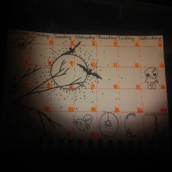 october bujo calendar by crochetamommy